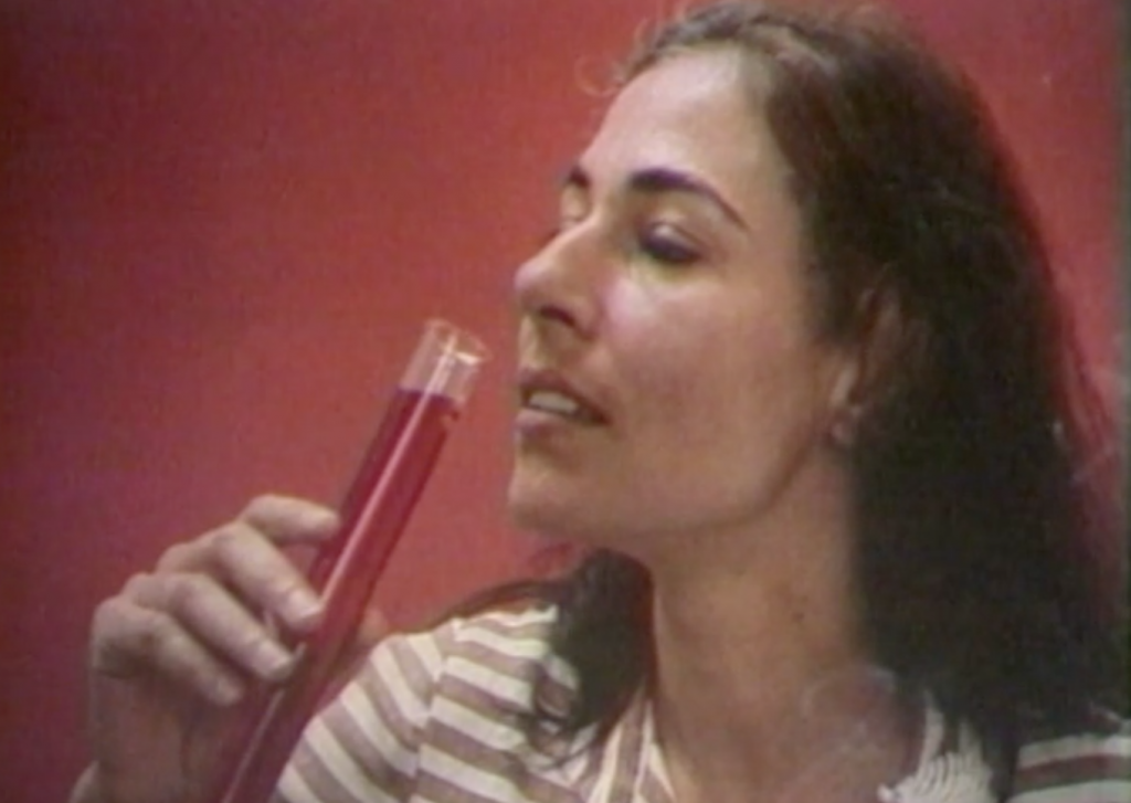 General Idea, 'Test Tube', 1979. Film still, Stedelijk Museum Amsterdam
