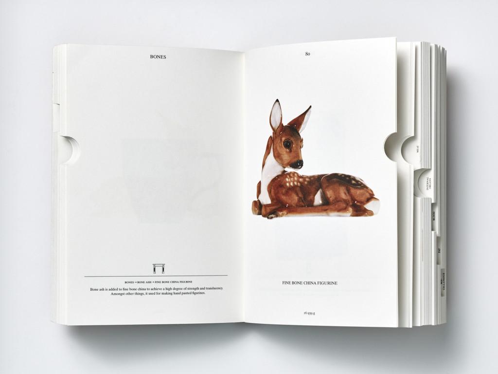 Pagina uit het boek PIG 05049 by Christien Meindertsma, special credits Julie Joliat (graphic designer)Page from the book PIG 05049 by Christien Meindertsma, special credits Julie Joliat (graphic designer)