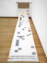 Rossella Biscotti, zaalopname ''Ik ben een geboren buitenlander'', 2017, Stedelijk Museum Amsterdam. Foto: Gert Jan van Rooij