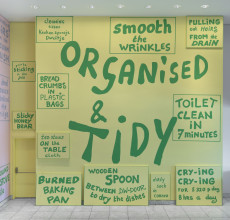 Lily van der Stokker, The tidy kitchen (detail), 2015, Hammer Museum, Los Angeles
