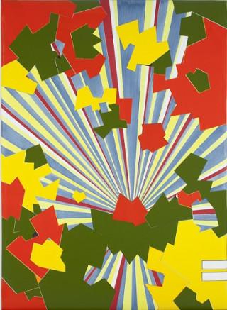 Han Schuil, Blast VII, 2010, paint on aluminium, collection Stedelijk Museum Amsterdam,  gift of Adriaan van Ravesteijn, in honour of the 80th birthday of Geert van Beijeren (1933-2005), 2013