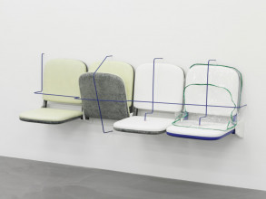 Magali Reus, Parking (Retainer), 2014. Collectie Stedelijk Museum Amsterdam. Verworven met steun van het Mondriaan Fonds, 2015.  © Stefan Altenburger. Courtesy Magali Reus and The Approach, London.