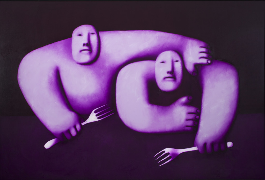 Oleg Nikolaevich Tselkov, Two with Forks, 1990. Collection Stedelijk Museum Amsterdam