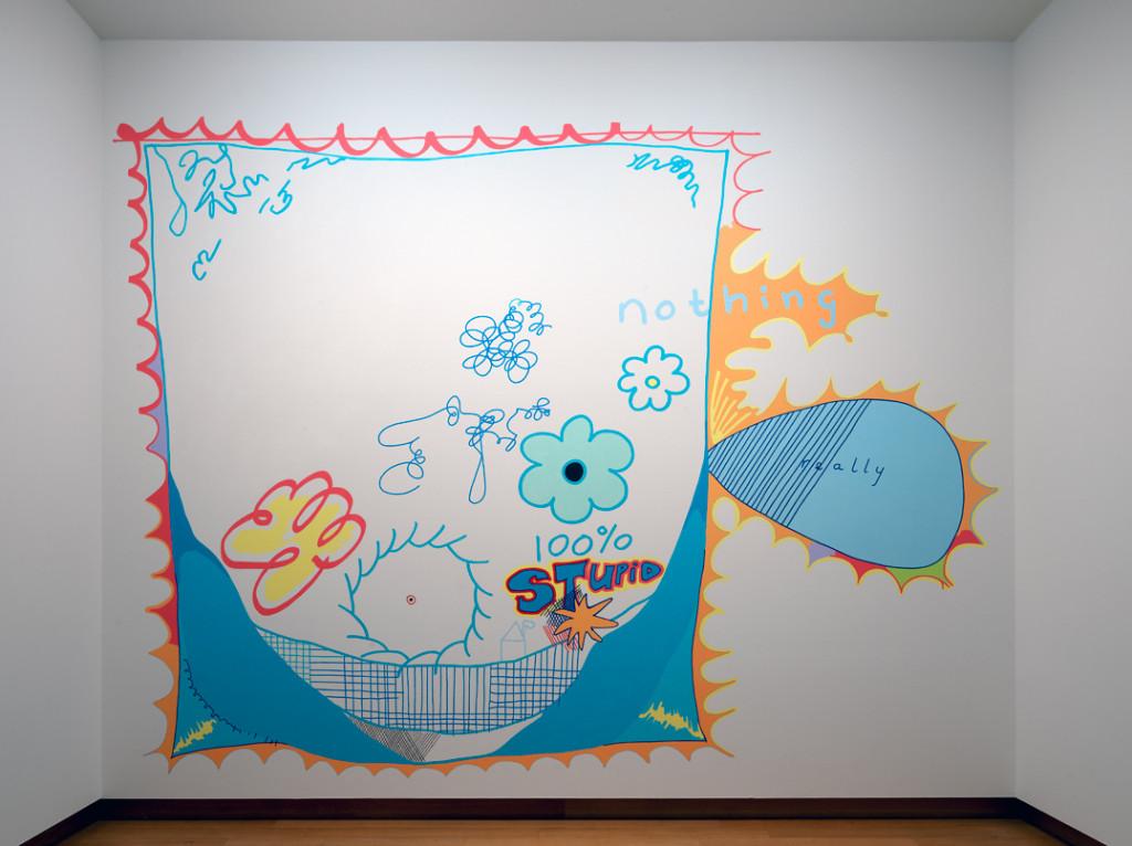 Mistake painting, 1991–2018 acrylverf op muur, met dank aan de kunstenaar. Foto: Gert Jan van Rooij