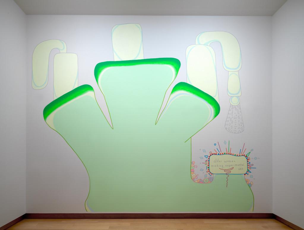 Experimental Art by Older Women, 1999–2018 acrylverf op muur, met dank aan de kunstenaar. Foto: Gert Jan van Rooij