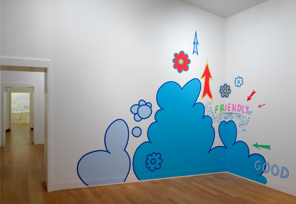 Friendly Good, 1992–2018 acrylverf op muur, met dank aan de kunstenaar. Foto: Gert Jan van Rooij