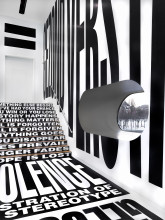 Barbara Kruger, installation view The collection, STEDELIJK BASE. Photo: Gert Jan van Rooij