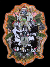Raquel van Haver, A Shrine of a Deity: L'enyin ise aye Lo Ku, 2018. Photo of collage, diasec. Courtesy the artist. Photo: Hans Wilschut.