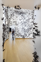 Carlos Amorales, Black Cloud, 2007 (installatie). Collectie Diane and Bruce Halle.
