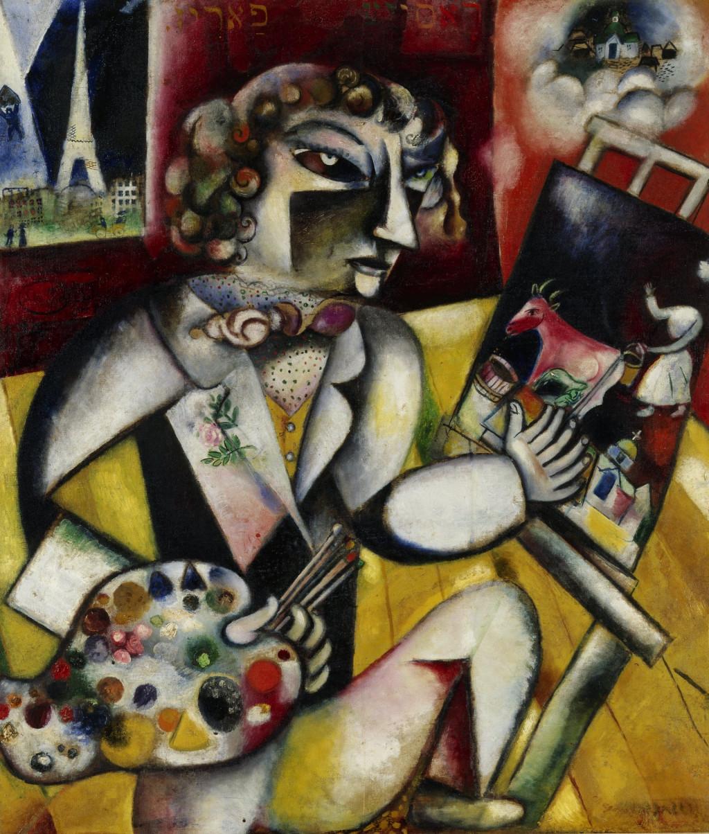 Marc Chagall, 'Zelfportret met zeven vingers', 1912-13
