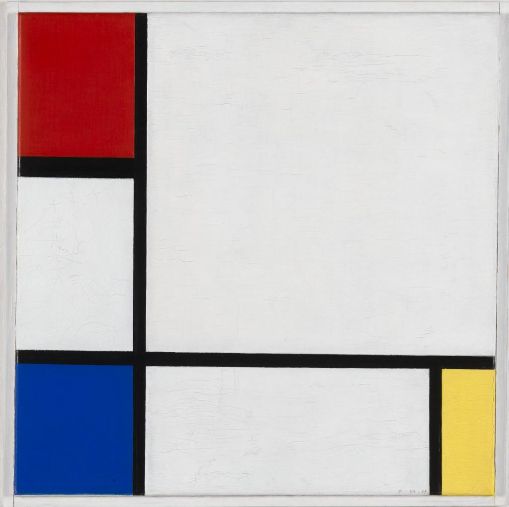 Piet Mondriaan, 'Compositie no. IV, met rood, blauw en geel', 1929