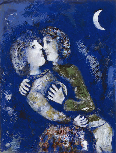 Marc Chagall, 'Couple amoureux', 1925, collectie Stedelijk Museum Amsterdam