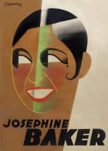 Jean Chassaing, affiche Josephine Baker, 1931, collectie Stedelijk Museum Amsterdam