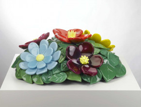 Jeff Koons, 'Mound of Flowers No. 1', 1991, glas, collectie Stedelijk Museum Amsterdam