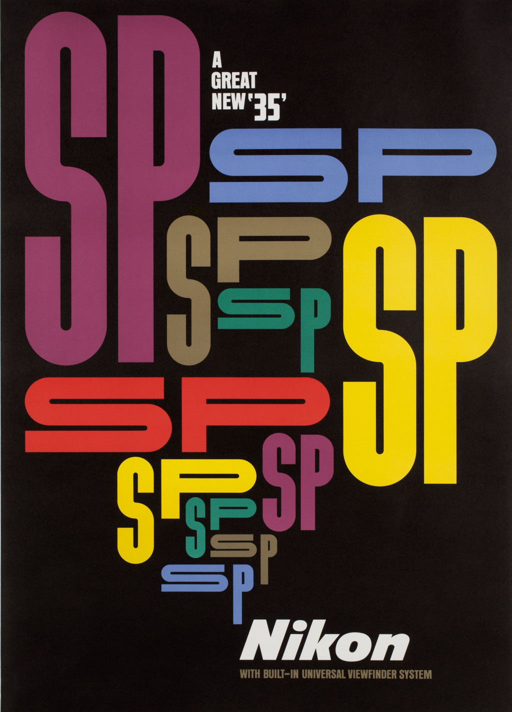 Yusaku Kamekura, 'Nikon SP', 1957. Collection Stedelijk Museum Amsterdam