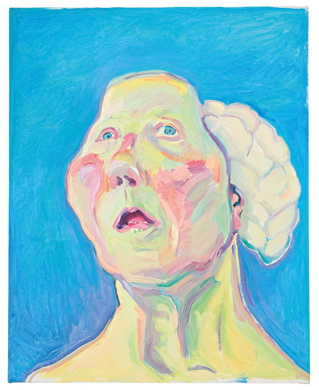 Maria Lassnig, 'Dame mit Hirn', ca. 1990 - 1999. © Maria Lassnig Foundation