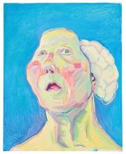 Maria Lassnig, Dame mit Hirn, ca. 1990 - 1999. © Maria Lassnig Foundation