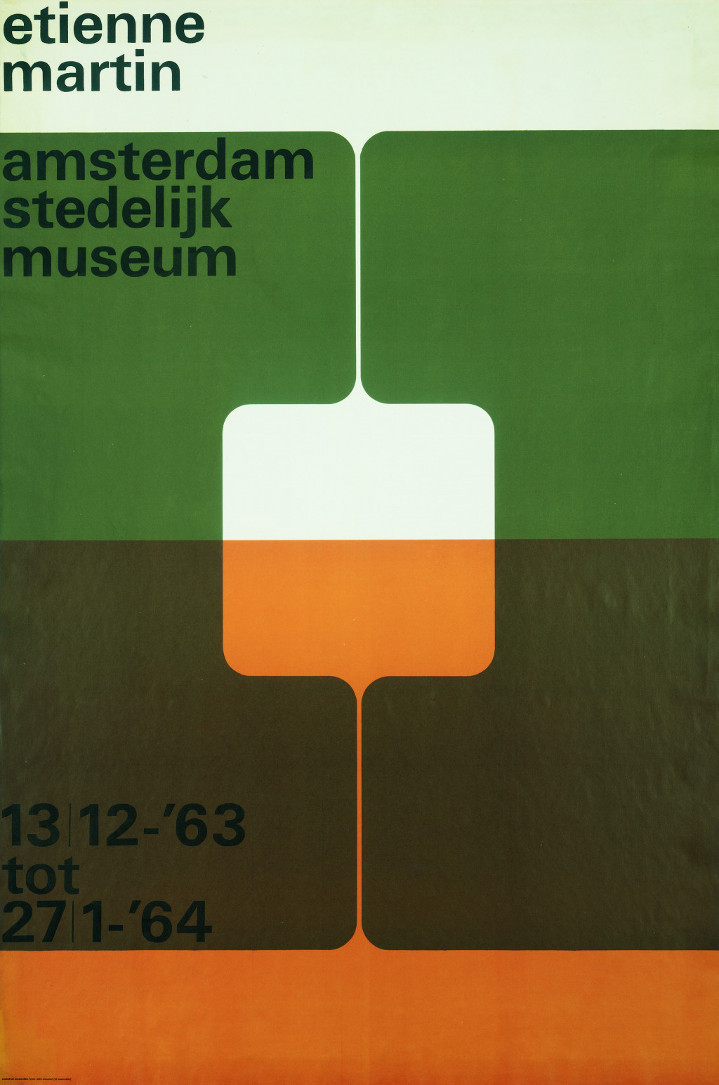 Wim Crouwel, 'Etienne Martin', 1963. Collection Stedelijk Museum Amsterdam