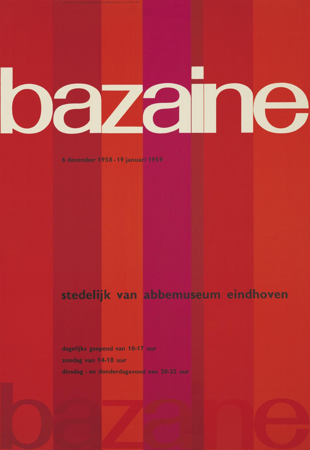 Wim Crouwel,  'Bazaine', 1958. Collection Stedelijk Museum Amsterdam