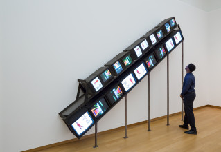 Nam June Paik, Homage to Stanley Brouwn, 1984. Collection Stedelijk Museum Amsterdam. Photo: Peter Tijhuis
