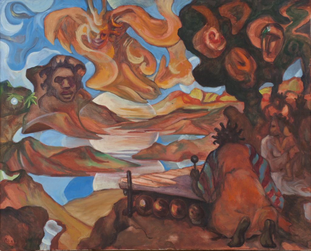 Armand Baag, 'Rasta Morning', 1980, oil paint on canvas. Collection Stedelijk Museum Amsterdam