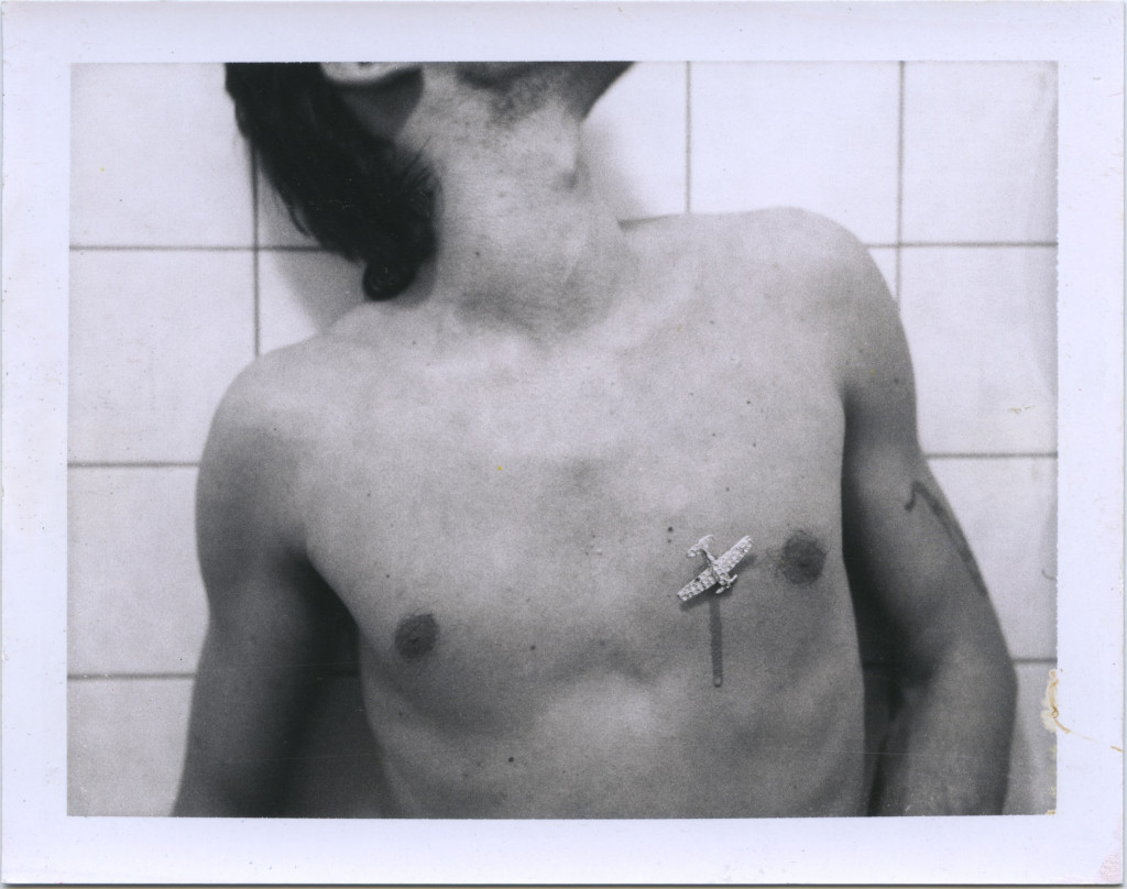Diamond Plane, 1974, original Auto-Polaroid, type 107, 8.5 x 10.8 cm. Courtesy ULAY Foundation