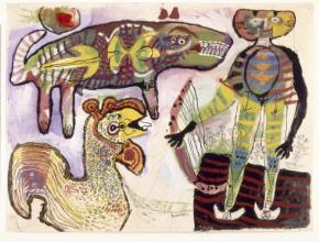 Orpheus en de dieren - Lucebert