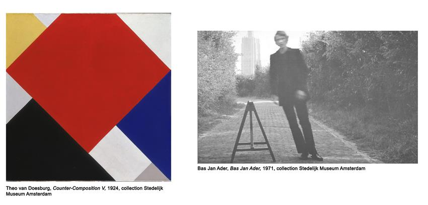 Work by Theo van Doesburg and Bas Jan Ader