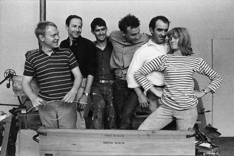 The Dylaby artists, to the right Jean Tinguely and Niki de St. Phalle