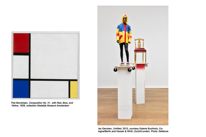 Work by Piet Mondrian and Isa Genzken