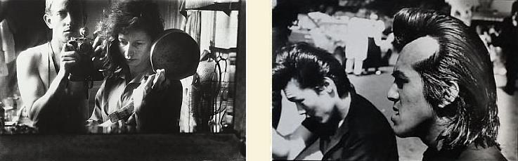 Left, gift: Self-portrait with Ata Kandó, Paris, 1953.  Right, acquisition: Rockers uit Harajuku, 1984. Collectie Stedelijk Museum Amsterdam