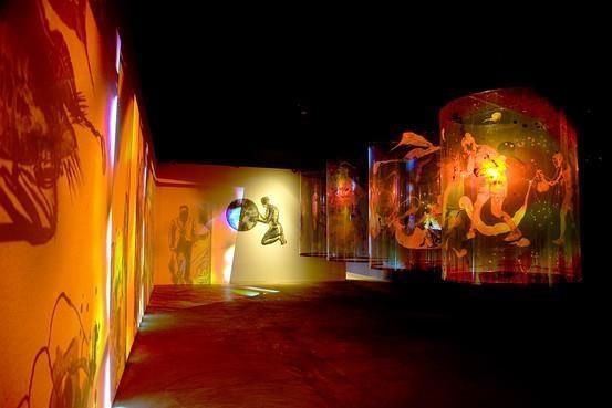 Nalini Malani, Transgressions, video/shadow play installation, 2001- Stedelijk Museum Amsterdam
