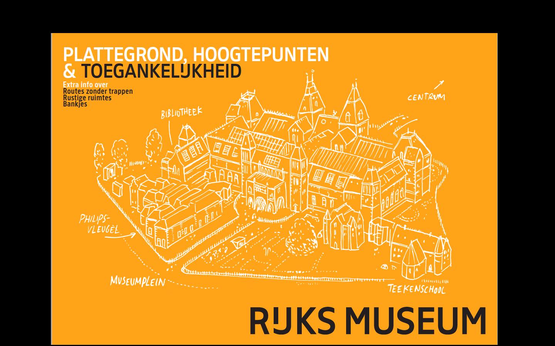 Voorkant van de toegankelijke plattegrond van het Rijksmuseum