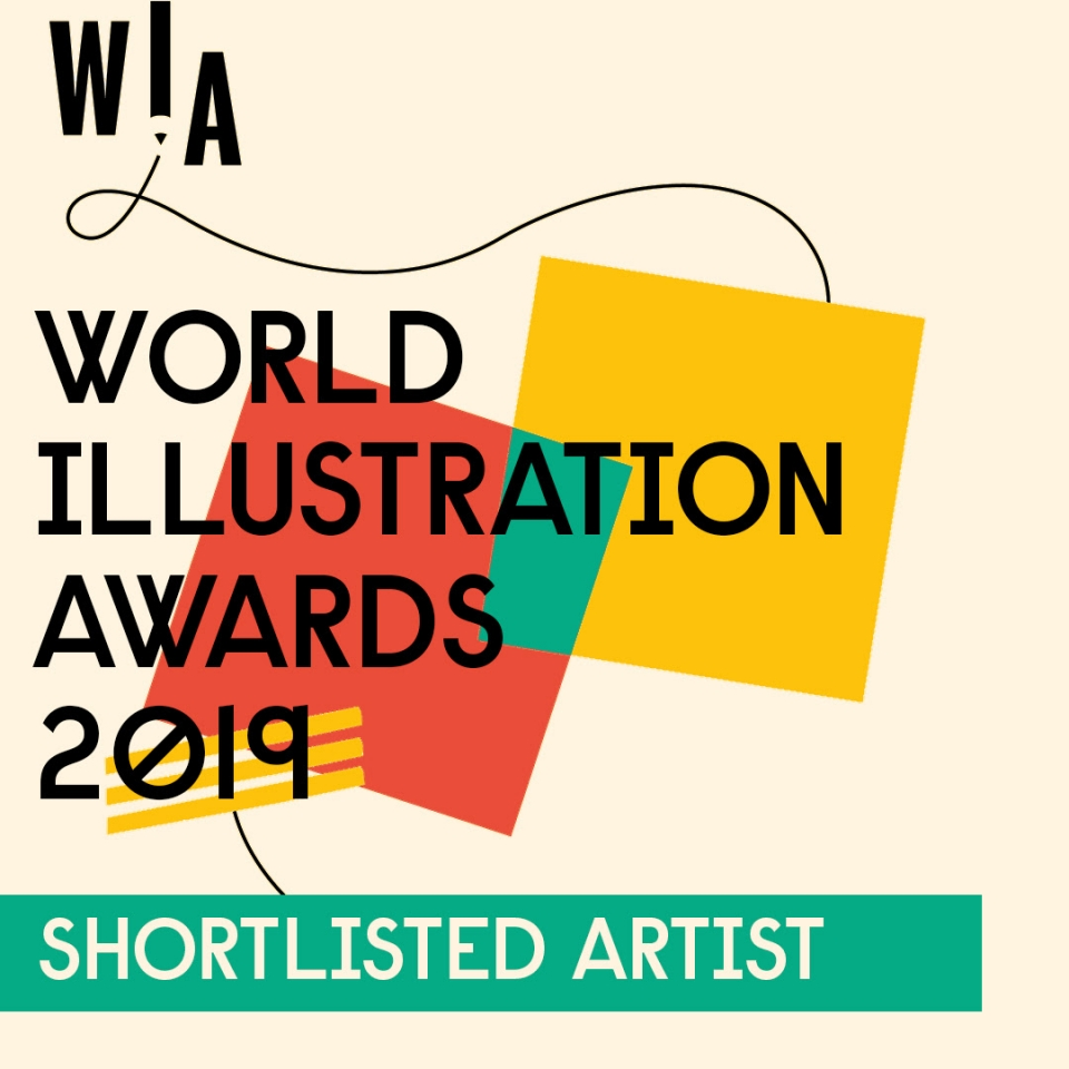 Steffie Padmos, illustrator van de STUDIO i animatie, is genomineerd voor de World Illustration Awards