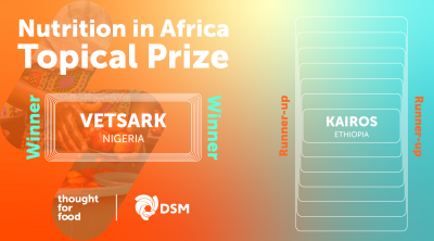 Nutrition in Africa Topical Prize Winner and Runner Up announcement