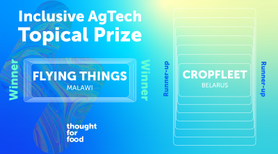 inclusive agtech topical prize winner and runner up announcement
