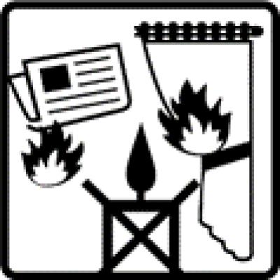 Niet branden in de buurt van spullen