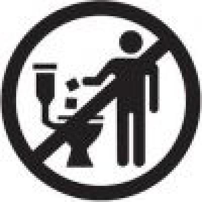 Niet door het toilet spoelen