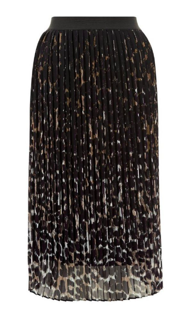new look pleated skirt leopard
