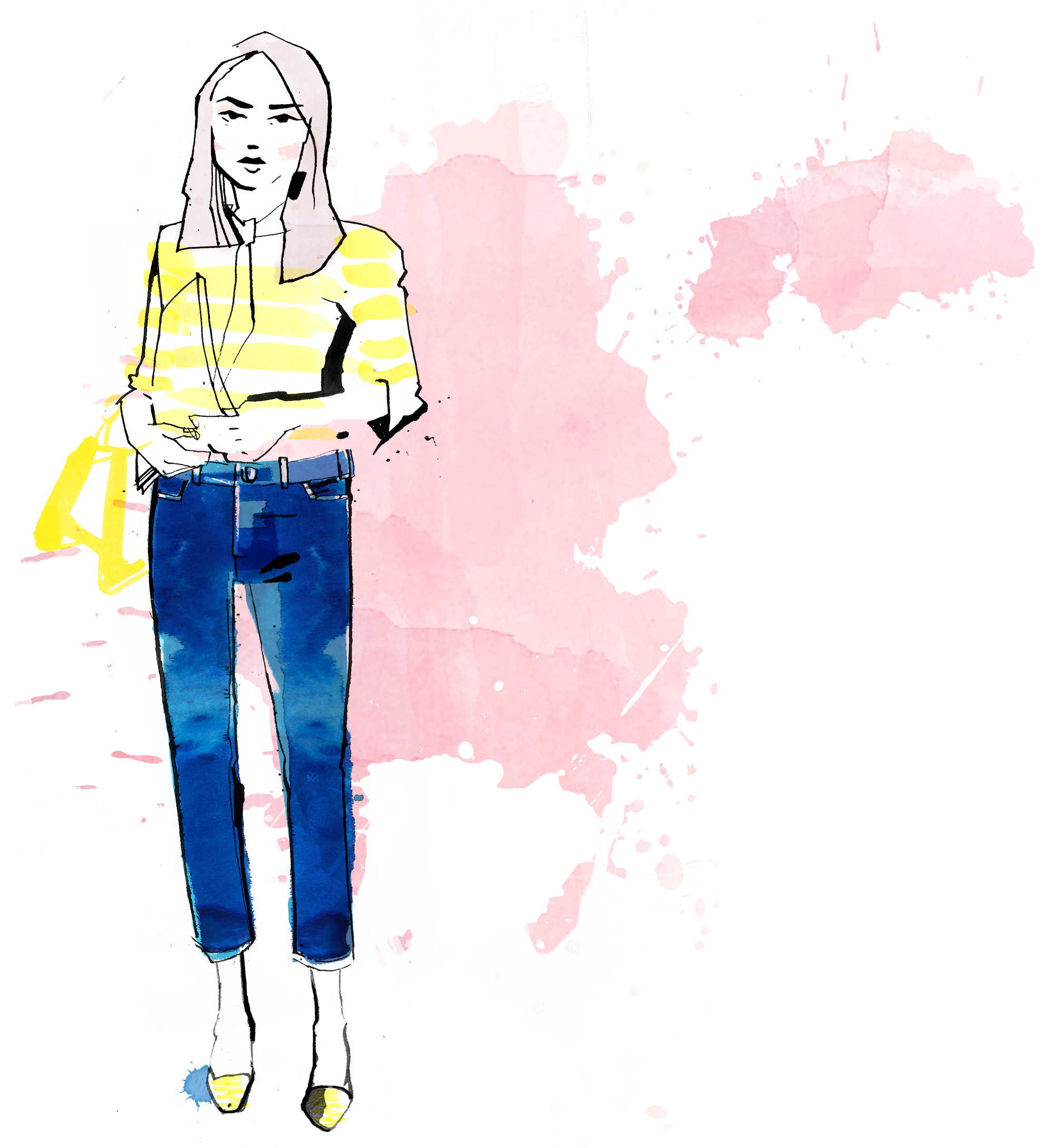 how to wear denim cropped