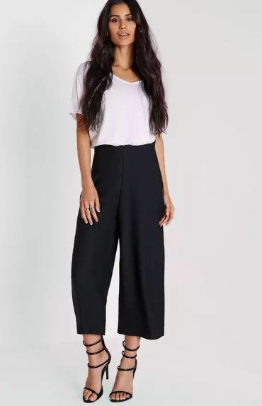 black culottes spring fashion
