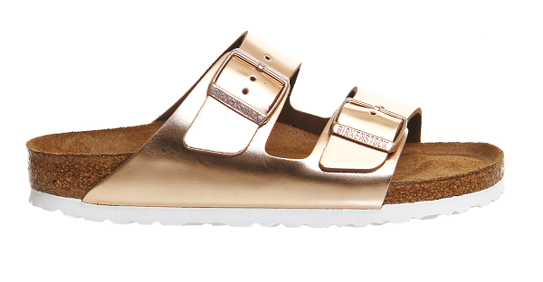 Spring fashion: rose gold birkenstocks