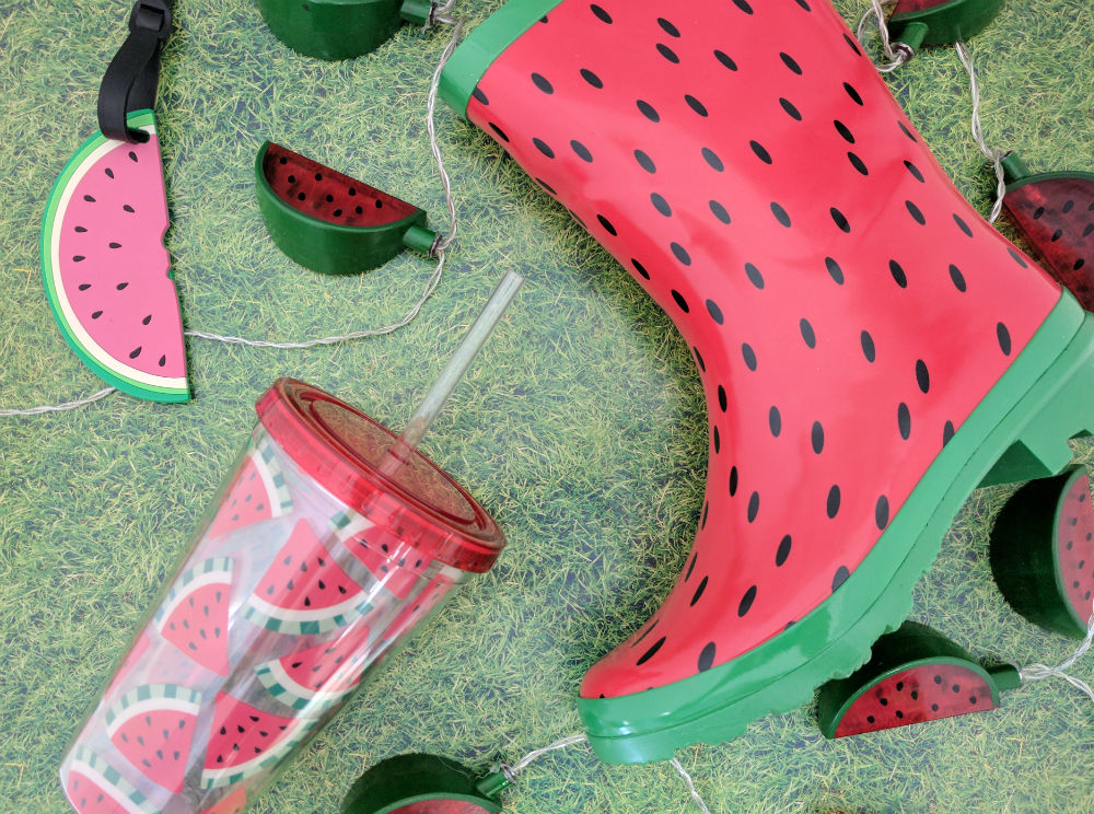 watermelon wellies