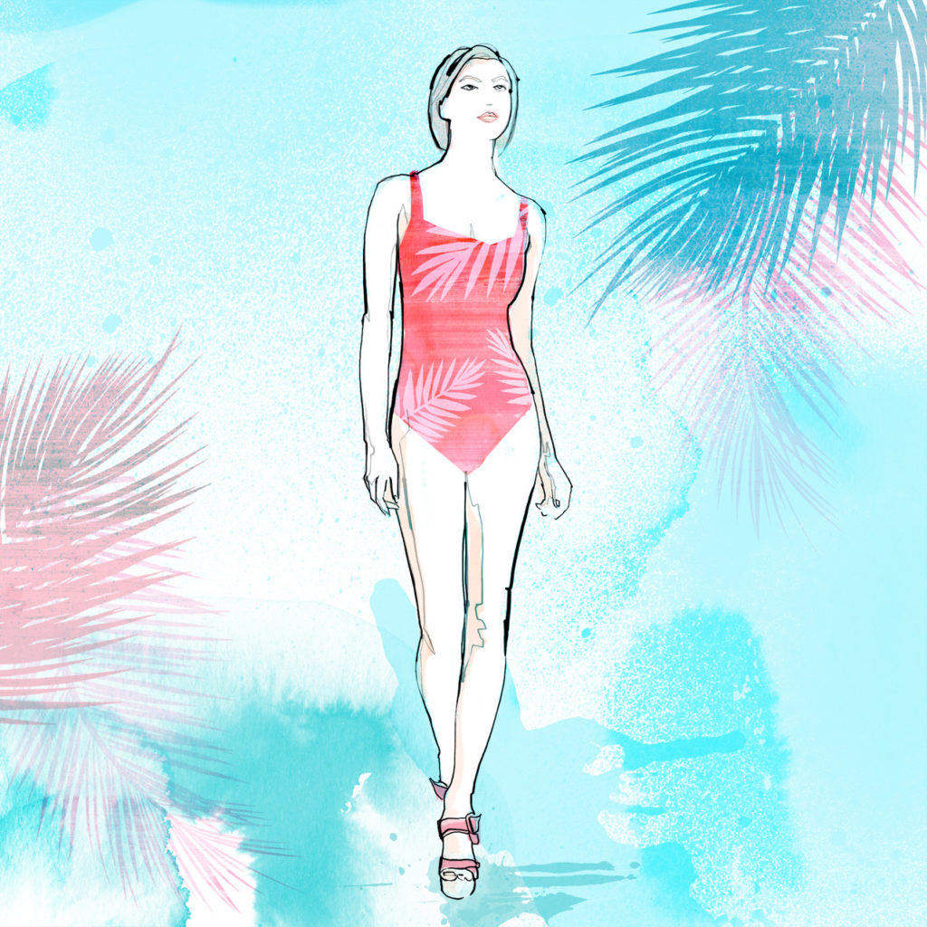 how to choose the best swimwear for your shape: one-piece
