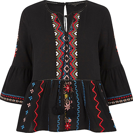 embroidered top high summer fashion