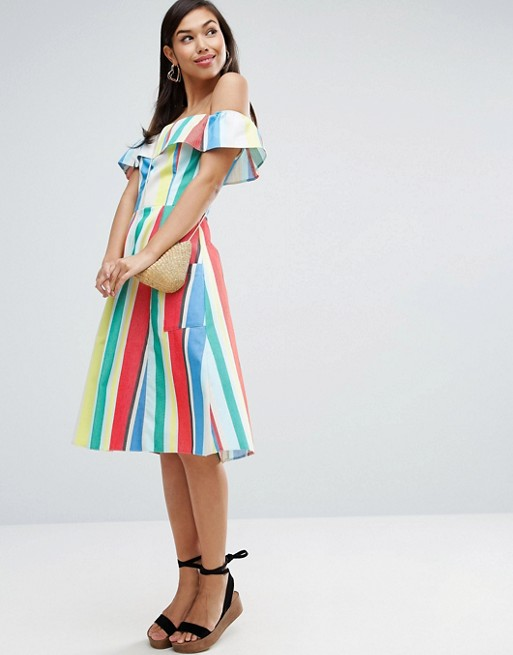 stripy high summer dress