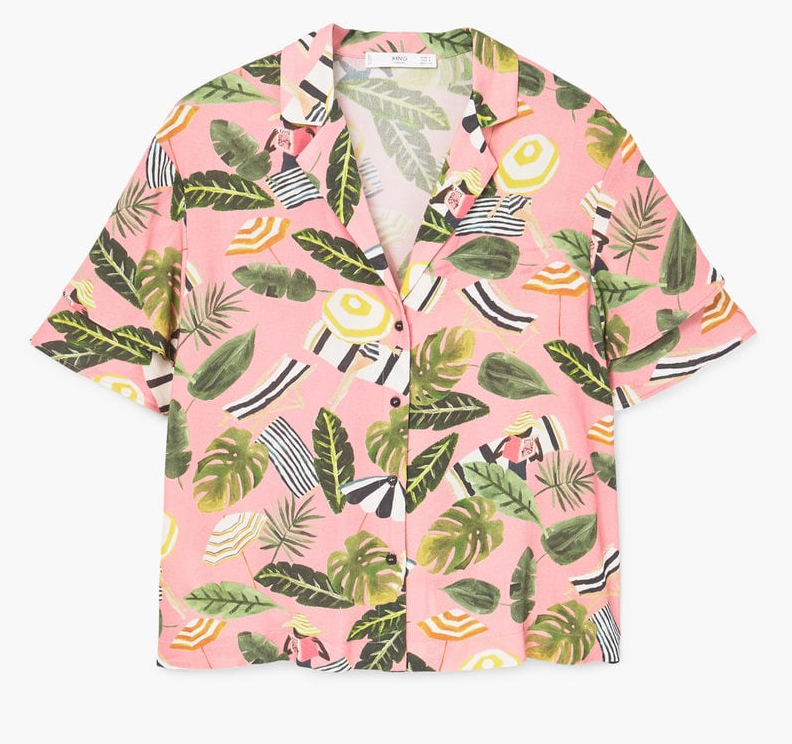 holiday fashion tropical print