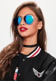 Missguided gold tapered aviator sunglasses