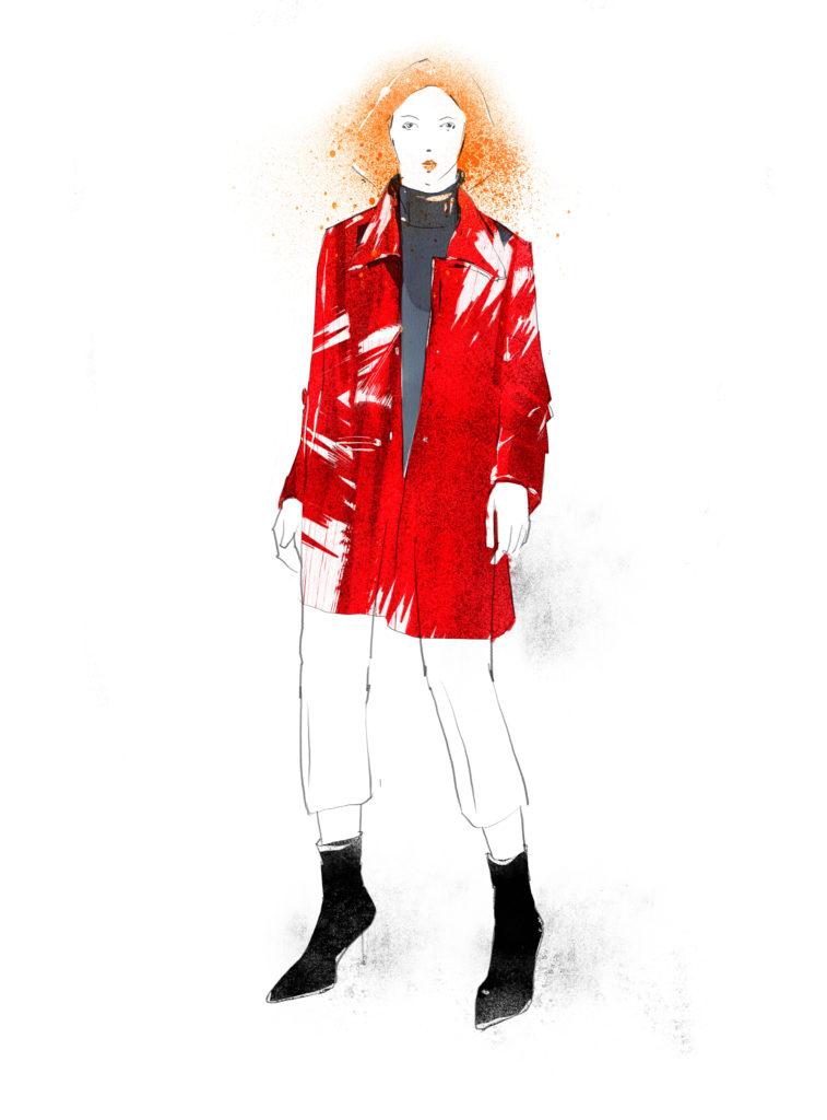 Red Vinyl Coat