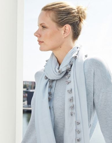 The White Company Cotton-Silk Tassel Scarf